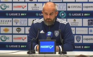 """Mathieu Chabert (SC Bastia) : """"Que reprocher à mes joueurs ?"""""""