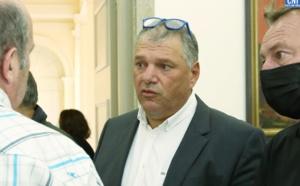 Jean-Charles Martinelli lors du dépouillement en prefecture à Ajaccio - photo Michel Luccioni
