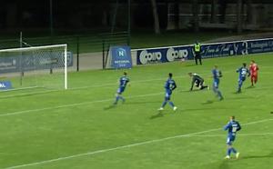 Poteau pour le FC Bastia-Borgo (Capture écran FFFTV)