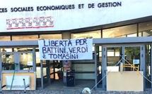 Procès de Paris : Les trois syndicats étudiants bloquent l'université de Corte