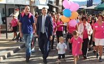 En route contre le cancer du sein : Lâcher de ballons et marche de l'espoir à Calvi