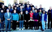 Les 16 premiers cadets de sécurité civile de Corse, ont signé leur charte à Corte