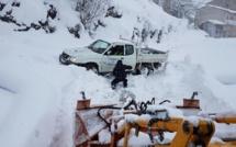 Ventiseri, un village du Fium'Orbu sous la neige
