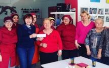 """L'Atlas remet un chèque à la Ligue contre le cancer à la suite de  son action """"Repas Solidaires"""""""