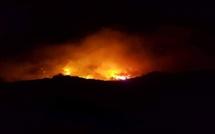 Bastelica : Reprise importante du feu en début de matinée. 300 ha parcourus