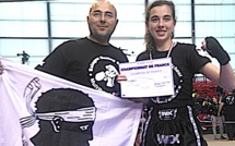 Laura Delogu (Balagne Boxing School) championne de France 2017 de kick boxing K1