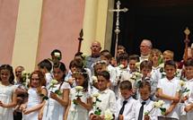 Baptêmes et Première Communion en ce jour de l'Ascension à Calvi