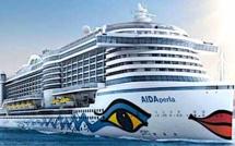 """""""AIDAperla"""" : Le  premier navire de croisière au GNL arrive à Ajaccio"""