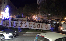 "Bastia : ""Parlemu Corsu"" investit le rond-point du Novelty"