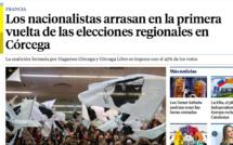 Territoriales : Le premier tour vu par la presse étrangère