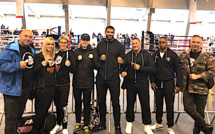 Cyril Cereyon du Team Pitbull Ajaccien vice-champion de France de kick Boxing