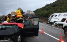 3 blessés à Ostriconi dans un accident entre une voiture et un camping-car