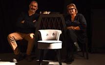 """La """"maman bohème"""" Christiane Acquaviva en représentation au théâtre d'Avignon"""