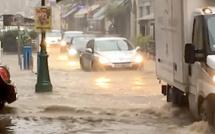 Corte : Violent orage sur la ville