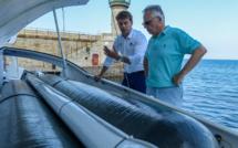"""Bastia : Le directeur  général Énergie  de la Commission Européenne, à bord d'""""Energy Observer"""""""