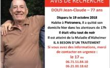 Disparition à Pietranera : Toujours aucune trace de Jean-Claude Dolfi