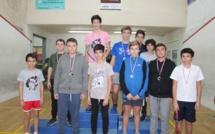 L'élite insulaire de squash (U11 et U15) à l'Ile-Rousse