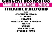 Bastia : Un concert pour les Restos du cœur à L'Alb'Oru