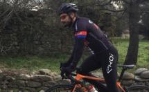 Sébastien Tiberi au départ du Bikingman Corsica 2019
