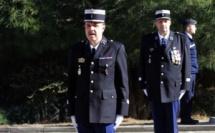 Prise d'armes à la Caserne de Gendarmerie Tramariccia de Calvi