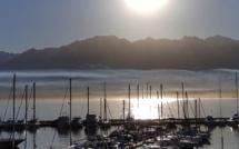La photo du jour : Quand  le Soleil s'ébroue dans le ciel de Balagne