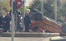 Ajaccio : Spectaculaire accident à Saint-Joseph