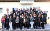 Corte berceau régional de formation des cadets de la Sécurité civile