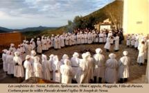 La photo du jour : Les confréries de Balagne réunies à Nessa