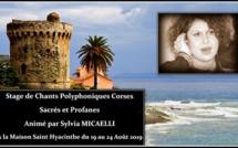 Polyphonie. Un stage de chants corses à la Maison Saint Hyacinthe de Figarella