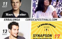 Festival d'Erbalunga : Marc Lavoine, Jenifer et Amir arrivent
