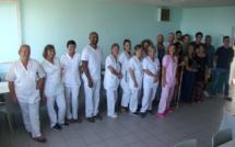 Le beau don de  l'association « In memoria à Vincentu »  au SSR de l'hôpital de Bastia