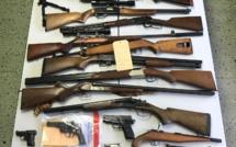 Des armes et des milliers de munitions saisies en Corse-du-Sud dans le cadre d'un trafic national et international