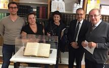 Bastia : Un document inédit de Pascal Paoli présenté à la bibliothèque Prelà