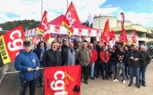 La CGT bloque le dépôt pétrolier du Vazzio
