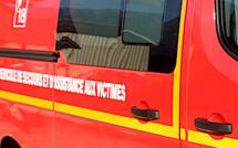 Vico : Une voiture en feu provoque un accident