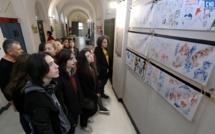 Lycée de Sartene : la «prépa» aux écoles supérieures d'arts expose au rectorat