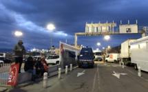 La  CGT bloque l'accès au port d'Ajaccio
