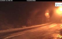 Vizzavona : Les premiers flocons de neige ont commencé à tomber