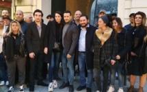 """Filippo de Carlo a rassemblé ses 42 colistiers ce mardi 25 Février au bar Le Bastion à l'entrée de la citadelle pour présenter ceux qui composent la liste """"Bastia forza nova""""."""