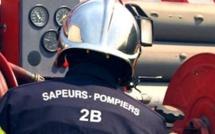 Début d'incendie à Poggio di Nazza
