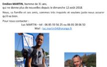 Qui a vu Emilien Martin qui n'a plus donné signe de vie depuis le 12 août 2018 ?
