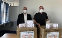 La chambre de commerce de Chongming  offre 10 000 masques à la CCI de Corse