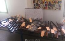 Vico : les gendarmes découvrent de nombreuses armes et munitions