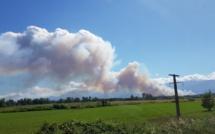 Aghione :  entre 10 et 15 hectares de végétation détruits, le feu progresse