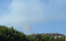 Santa Maria di Lota : brûlage dirigé en cours