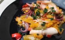 A table : Calamars grillés à la sauce citronnée