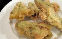A Table : beignets de fleurs de courgette