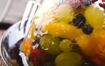 A table : Gelée de fruits au Muscat du Cap Corse