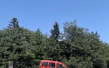 Ghisoni : un départ de feu de forêt au Col de Verde