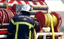 Linguizzetta : une voiture prend feu pendant qu'elle roule